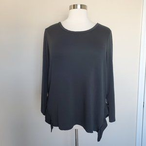 Lane Bryant Plus Size 18/20 Dark Green Top Ruffle